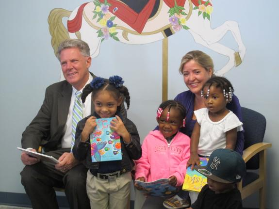 Rep. Pallone Reads to Children at Asbury Park Pediatrics In Support of Reach Out and Read Program