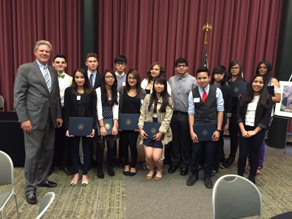 Pallone Recognizes Outstanding High School Students at Spring Awards Reception