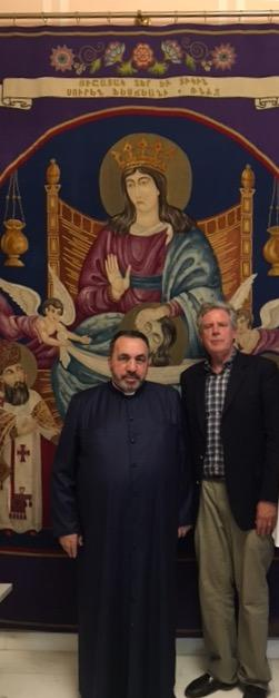 Pallone Meets Armenian Patriarch on visit to Jerusalem