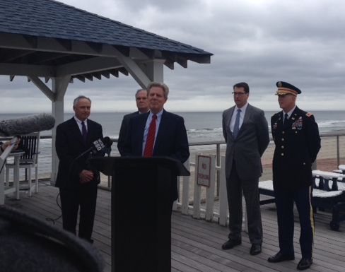 Pallone Marks Start of Beach Replenishment Project from Southern Deal to Loch Arbour