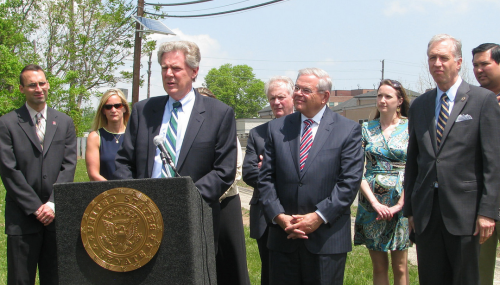 Pallone Visits Crumbling Bridge to Highlight Critical Need for Long-term Infrastructure Funding feature image